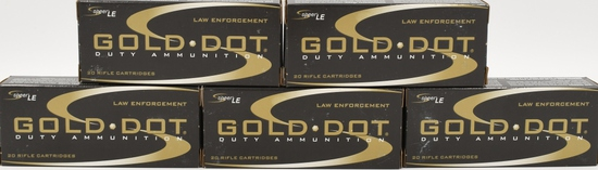 100 rds .30 Carbine Gold Dot Duty Ammo