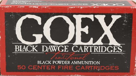 50 rds 44-40 WCF Goex Black Dawge