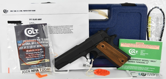 Brand New Colt 1911 Limited Ed. Black Army .45 ACP