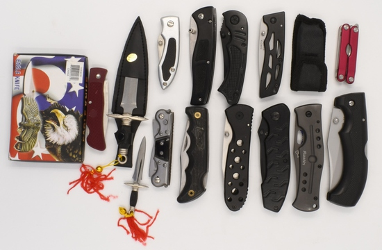Lot of pocket Knives Various Styles and MFG