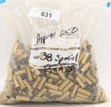 approx 650 38 special Brass Casings weighs approx