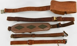 Lot of 4 Brown Leather Slings