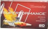 20 Rounds Hornady Superformance 6mm Rem Ammo