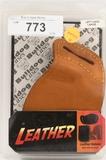 Bulldog Cases Left Hand Tan Molded Leather Belt