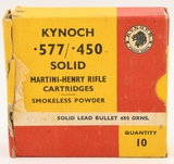 10 Rounds Of .577/.450 Kynoch Ammunition