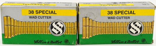 100 Rounds Of Sellier & Bellot .38 Special