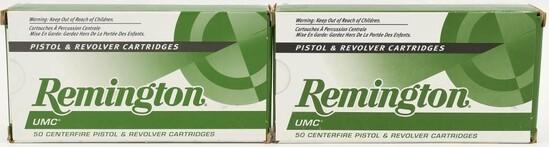 100 Rounds Of Remington UMC .45 ACP Ammunition