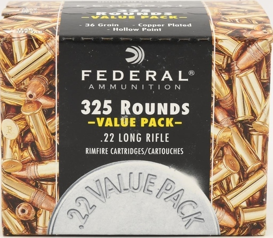 325 Rounds Of Federal .22 LR Ammunition