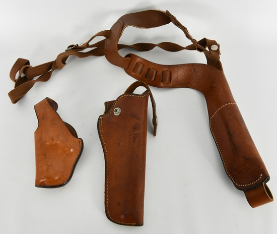 Lot of 3 Tan Leather Holsters