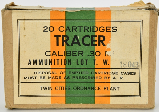 20 Rounds Of .30-06 (.30 Cal) Tracer Ammunition