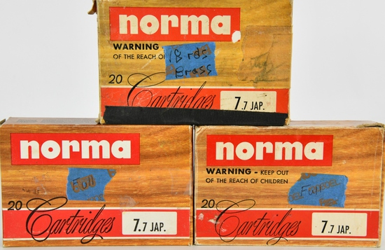 40 Rounds Of Norma 7.7 Jap & 18 Empty Brass