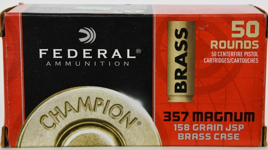 50 Rounds Of .357 Mag & .38 SPL Ammunition
