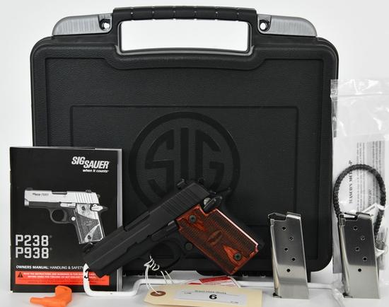 Brand New SIG Sauer P938 Semi Auto Pistol 9mm