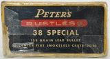 Collectors Box Of 50 Rds Peters .38 SPL Ammunition
