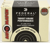 325 Rounds Of Federal Target Grade .22 LR Ammo
