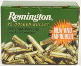 225 Rounds Of Remington .22 LR Golden Bullet Ammo