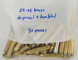 80 Count Of De-Primed & Tumbled .25-06 Empty Brass