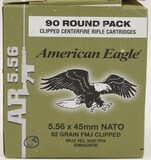 90 Rounds Federal American Eagle 5.56mm NATO