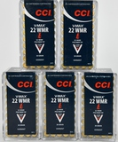 250 Rounds of CCI V-Max .22 WMR Ammunition