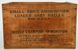 Vintage Western Small Arms Wood Ammo Crate