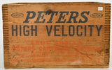 Vintage Peters High Velocity Wood Ammo Crate