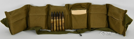 Bandolier of 60 Rds .30-06 Ammo On Stripper Clips