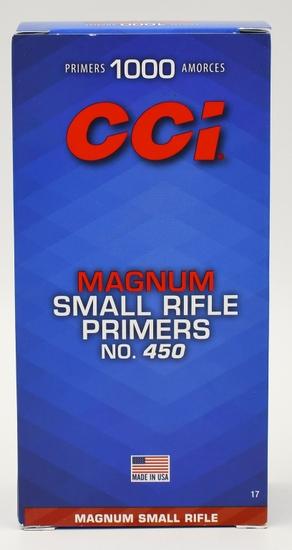 1000 CCI Small Rifle Magnum Primers #450