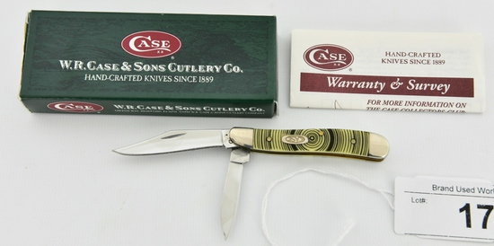 Case XX Yellow Tree Rings Peanut 1/1000 Knife