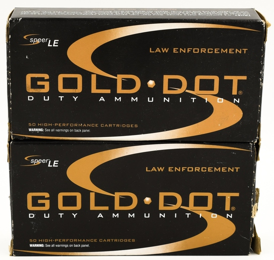 100 Rounds Of Speer LE Gold Dot .45 Auto Ammo