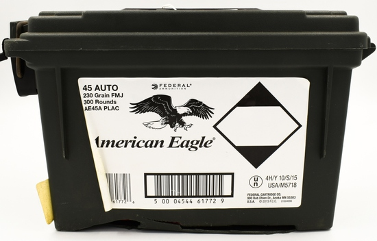 300 Rounds Of American Eagle .45 Auto Ammunition