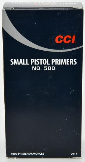 CCI Small Pistol Primers No. 500 1000 count