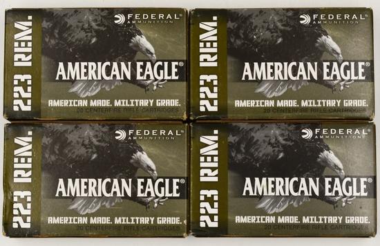 80 Rounds Of American Eagle .223 Rem Ammunition