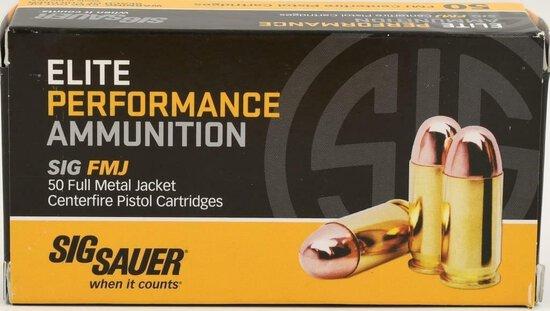 50 Rounds Sig Sauer Elite 38 Super +P Ammunition