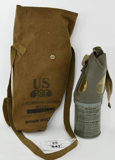 Original U.S. WWII Noncombatant Gas Mask