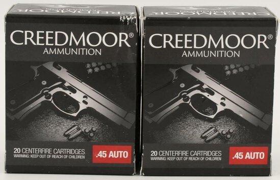 40 Rounds Of Creedmoor .45 Auto Ammunition