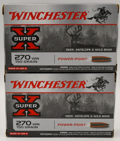40 Rounds Of Winchester SuperX .270 Win Ammo
