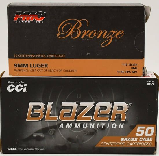 100 Rounds Of 9mm Luger Ammunition