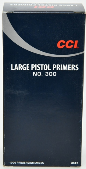 CCI Large Pistol Primers No. 300 1000 Primers