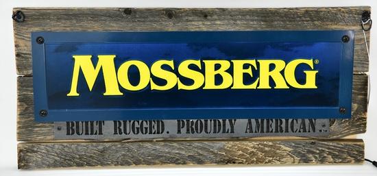 Large Decorative Lighted Mossberg Hanging Sign