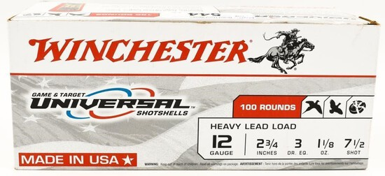 100 Rounds Of Winchester Heavy Load 12 Ga