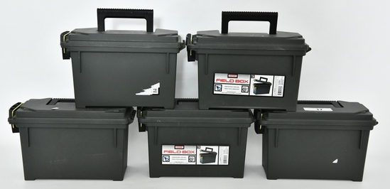 Lot of 5 Stout Stuff Field Box Plastic Ammo Cans