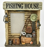 Decorative Fishing House Picture Frame
