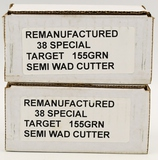 Approx 100 Rounds Of Remanufactured .38 Special