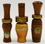 Lot of 3 Vintage Wood Duck Calls