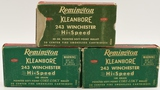 60 Count Of Remington .243 Win Empty Brass Cases
