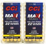 100 Rounds Of CCI Maxi-Mag .22 WMR Ammunition