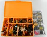 Large Lot Of Various Fishing Tackle & Box