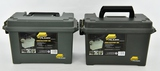 Lot of 2 Plano Model 1712-00 Plastic Ammo Cans