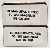 100 Rounds of Remanufactured .357 Magnum Ammo