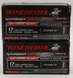 100 Rounds of Winchester Varmint HV .17 WSM